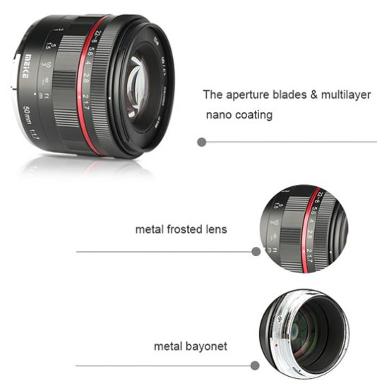 Meike Announces Low Budget 50mm f/1.7 Lens for Canon RF and Nikon Z Mirrorless Cameras 4