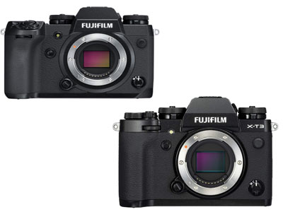 Fujifilm X-H1 and X-T3