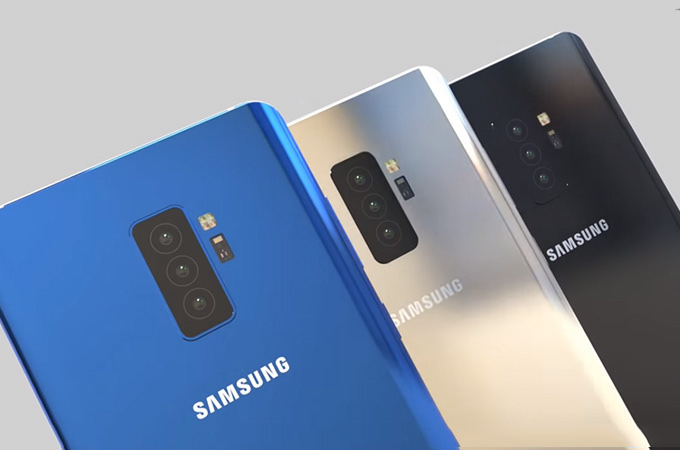 A Sneak Peak at the Six Cameras of Samsung's Galaxy S10 1