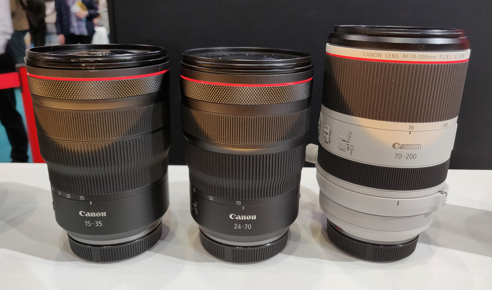 Canon's Trinity & Two Other RF Lenses Make European Debut at TPS 2