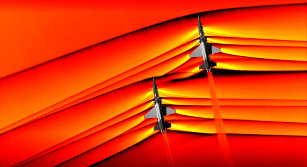 First Photograph of Shockwaves Produced by Supersonic Jets Interacting Captured by NASA 1