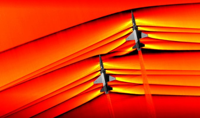First Photograph of Shockwaves Produced by Supersonic Jets Interacting Captured by NASA 52