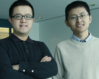 Jinyang Liang (left)and Xianglei Liu were among the researchers who developed the COSUP system.