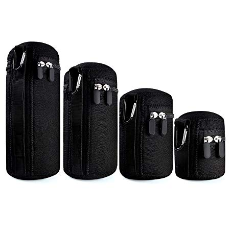 Waka 4-Pack Thick Protective Neoprene Camera Lens Pouch Set Image