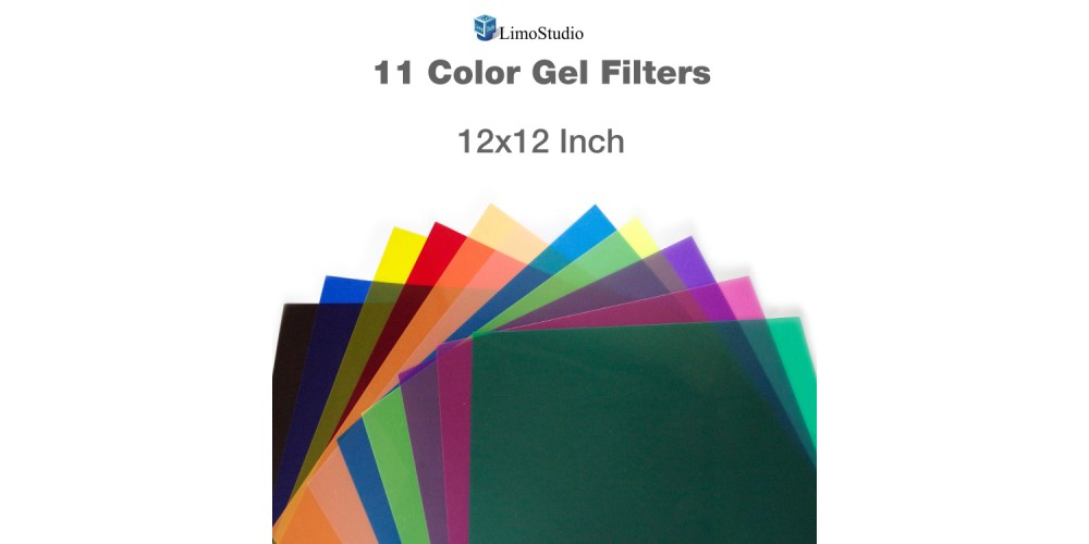 LimoStudio Colored Gel Lighting Filters Image