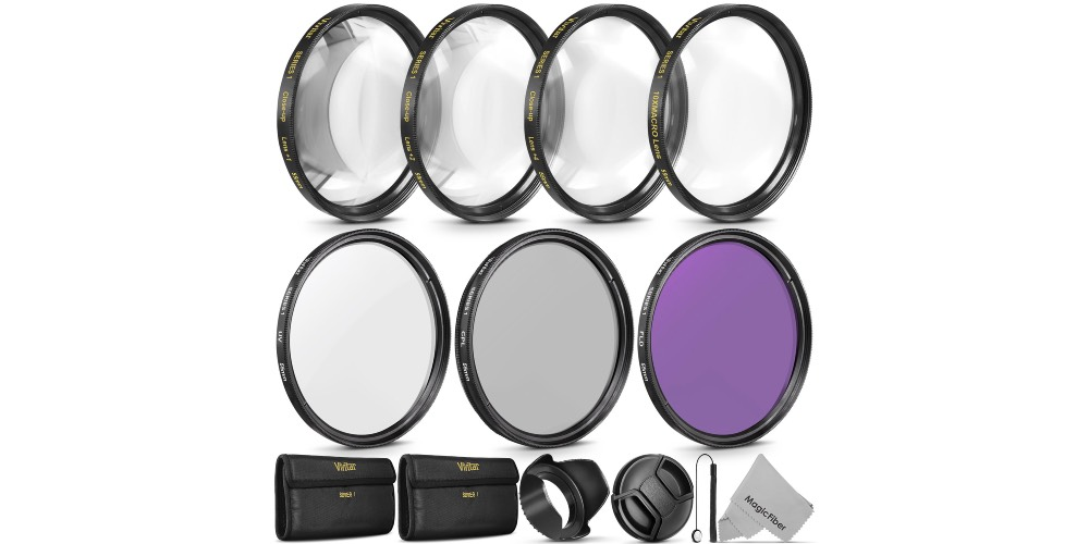 Vivitar 55mm Professional UV CPL FLD Lens Filter Set Image