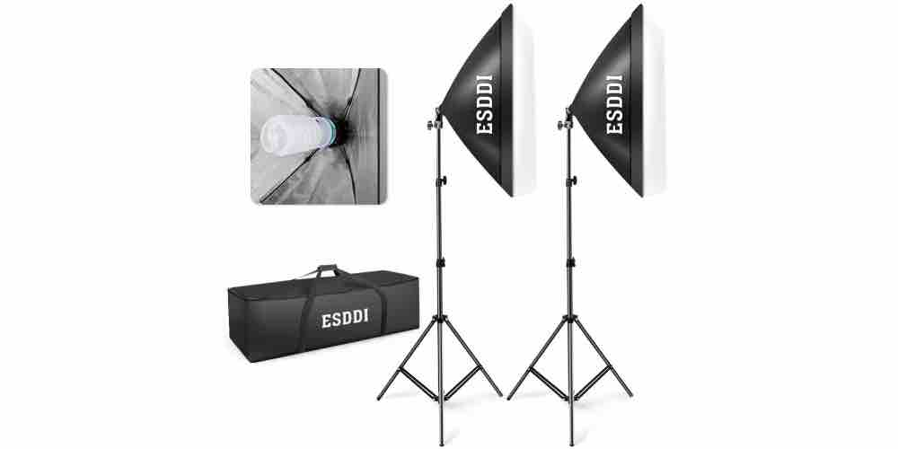 "ESDDI 20""X28"" Softbox Photography Lighting Kit Image"