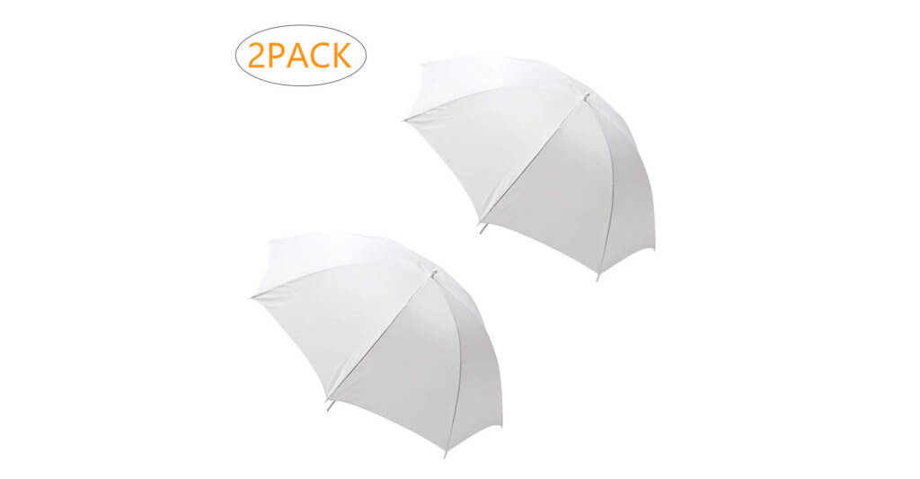 MountDog 2 Pack 33:84cm White Translucent Soft Umbrella Image