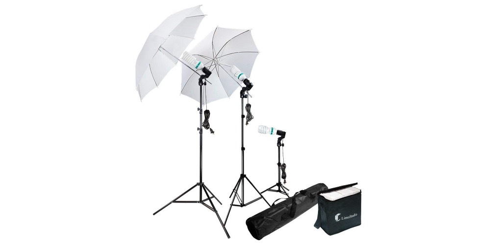 LimoStudio Photography Photo Portrait Studio 600W Day Light Umbrella Image