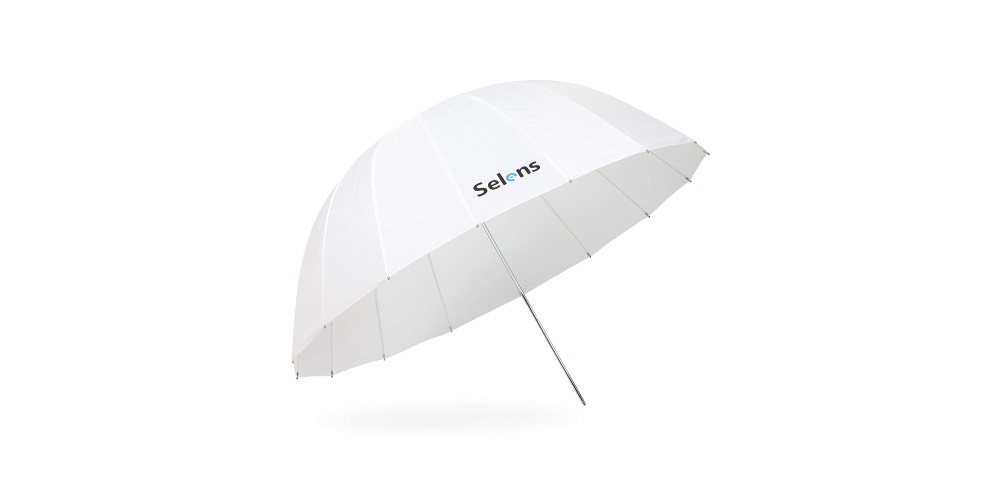 Selens 51 Inch Photography Studio Translucent Parabolic Lighting Reflective Umbrella Image