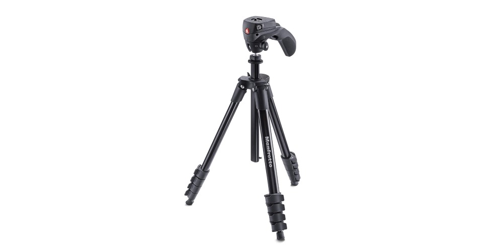 Manfrotto Compact Action Aluminum 5-Section Tripod Kit Image