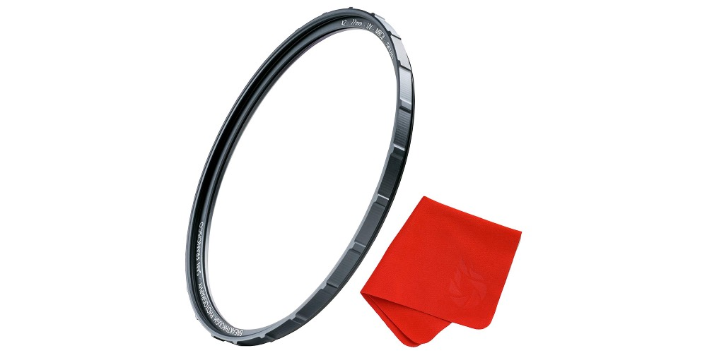 UV Protection Photography Filter with Lens Cloth - MRC8, Nanotec Coatings, Ultra-Slim, Traction Frame, Weather Image