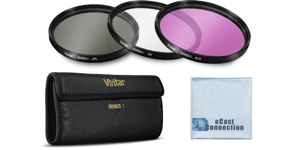 Vivitar 3 Piece UV / CPL / FLD 58mm Filter Kit for Canon Image