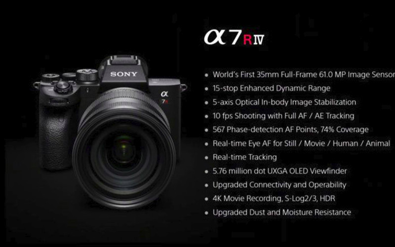 Sony a7R IV is a 61MP full-frame mirrorless camera Image