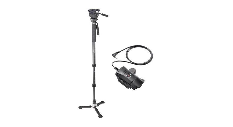 Libec Hands-Free Monopod with Dual Base Video Head Image