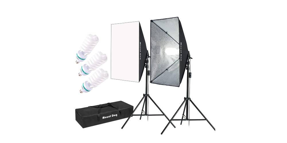 MOUNTDOG 1350W Photography Softbox Lighting Kit Image