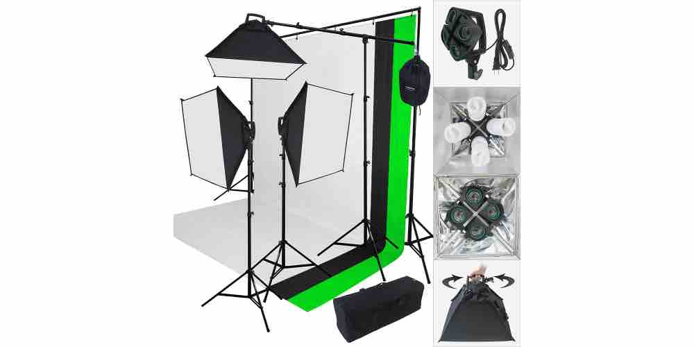 Lincostore 2000 Watt Photo Studio Lighting Kit Image