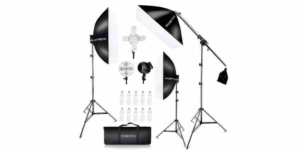 FOSITAN Softbox Photography Lighting Kit Image