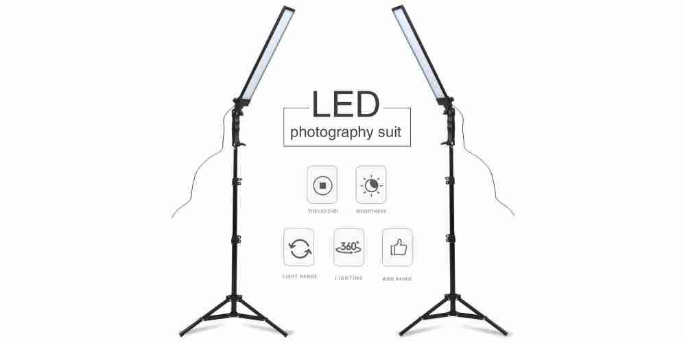 GSKAIWEN 180 LED Light Photography Studio LED Lighting Kit Image