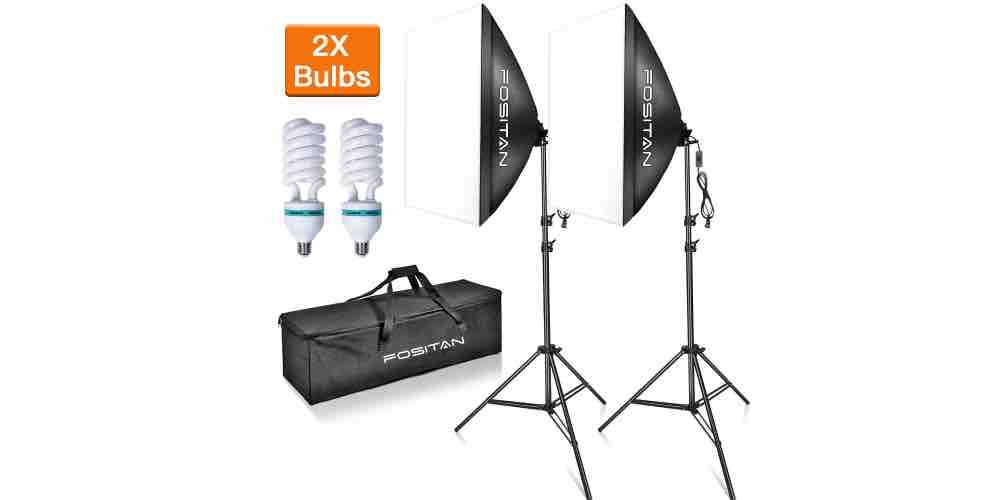 "FOSITAN 20""x28"" Softbox Photography Lighting Kit Image"