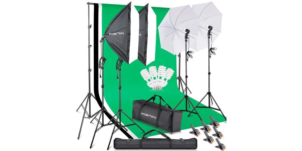 FOSITAN Photography Softbox Lighting Kit Image