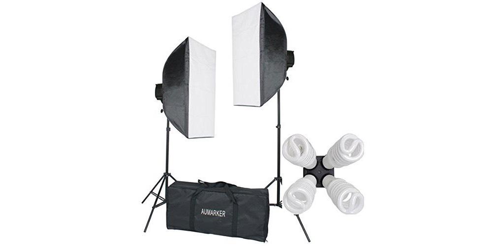 StudioFX 1600 WATT H9004S Digital Photography Continuous Softbox Lighting Studio Video Portrait Kit Image