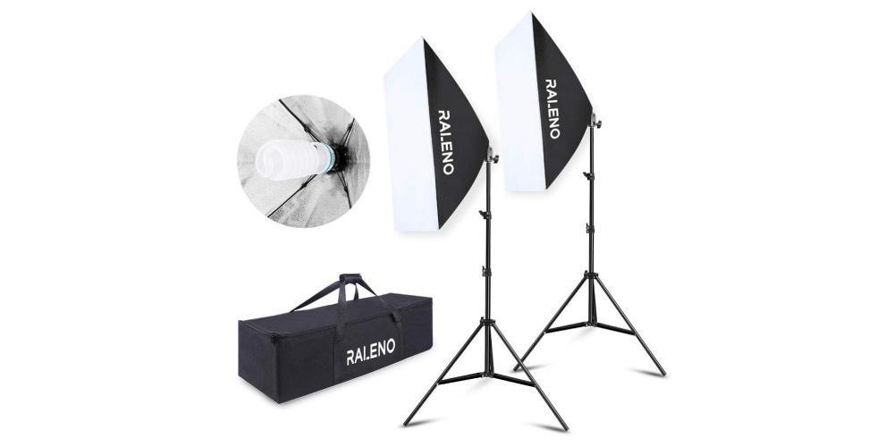 RALENO Softbox Photography Lighting Kit Image