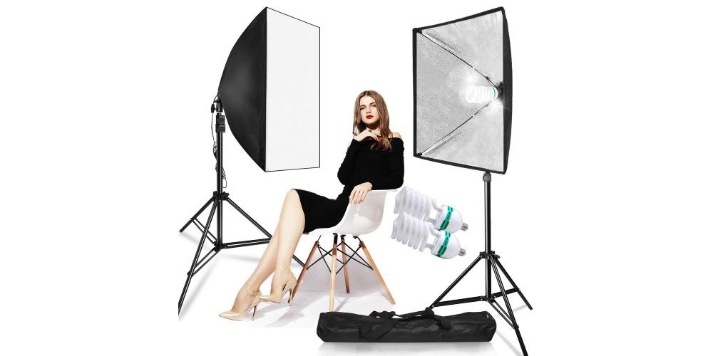 LimoStudio 700W Photo Video Studio Soft Box Lighting Kit Image