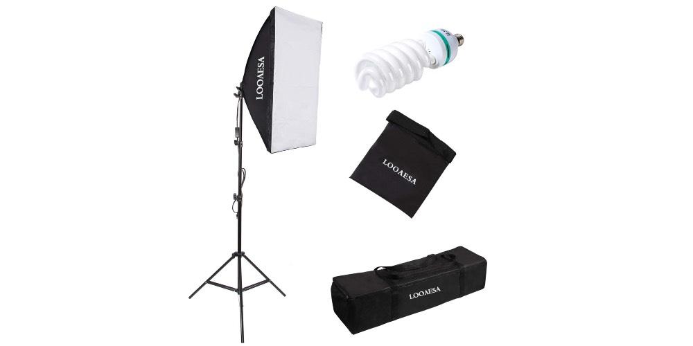 LOOAESA 1350W Photography Lighting Softbox Lighting Kit Image