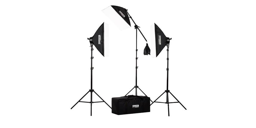 Fovitec 3-Point Fluorescent Lighting Kit Image