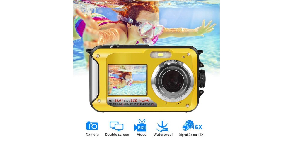 Seree Waterproof Camera for Snorkeling full HD 1080P 24.0MP Image