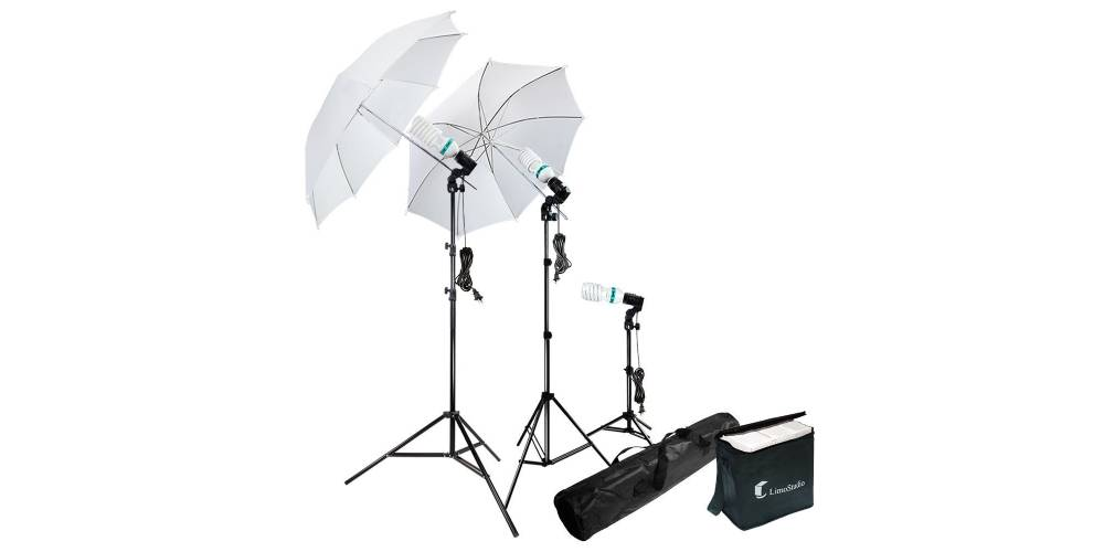 LimoStudio Photography Photo Portrait Studio 600W Day Light Umbrella Continuous Lighting Kit Image