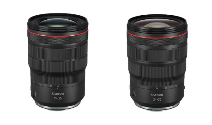 Canon Unveils Two New RF lenses - RF 15-35mm f/2.8 L IS USM and RF 24-70mm f/2.8 L IS USM.