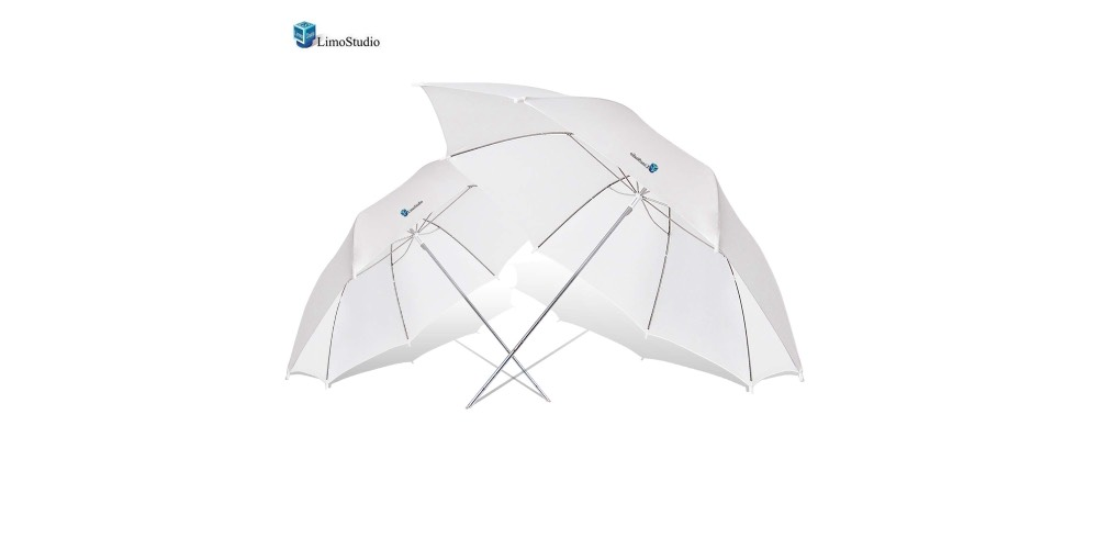 LimoStudio Translucent White Soft Lighting Umbrellas for Photography Image