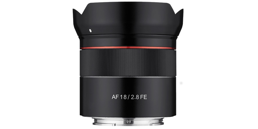 "The new Samyang AF 18mm f/2.8 lens is said to be ""the most compact, lightweight, and affordable"" super-wide-angle full-frame lens for Sony E mount."
