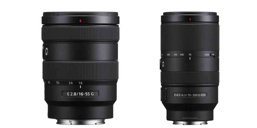 Sony has launched two new E-mount zoom lenses for its APS-C mirrorless camera series: the 16-55mm f/2.8 G and the 70-350mm f/4.5-6.3 G OSS super-telephoto zoom lens. The two new lens addition will increase Sony's versatile E-mount system lens lineup to a total of 54.