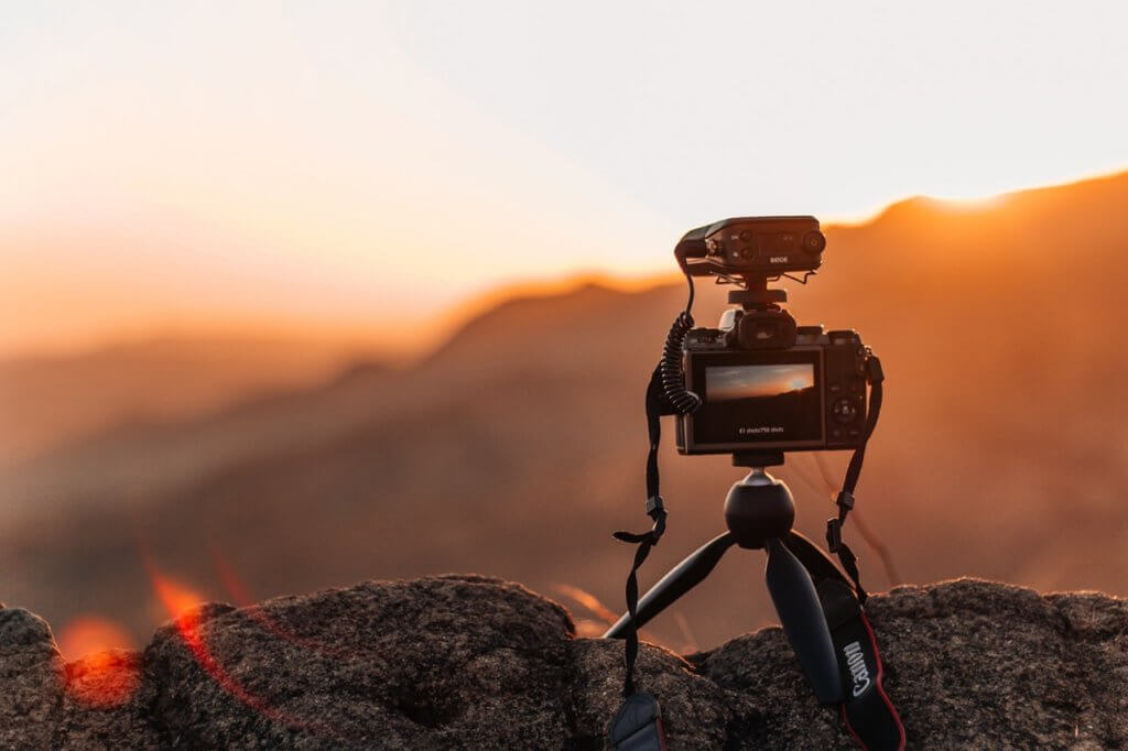 camera-close-up-golden-hour-
