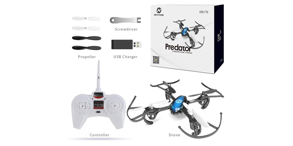 HS170 Predator Mini RC Helicopter Drone image-3