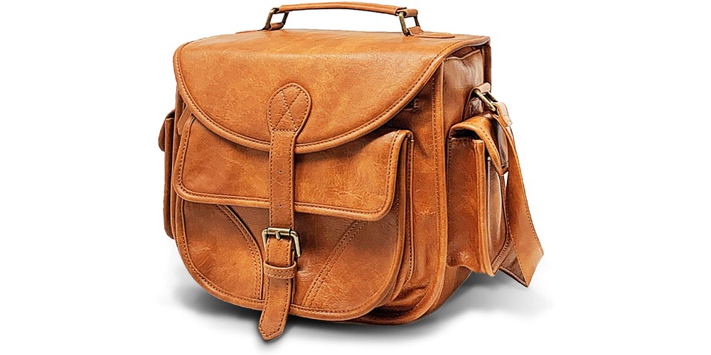 DSLR Vegan Leather Saddle Camera Bag by Rofozzi Image