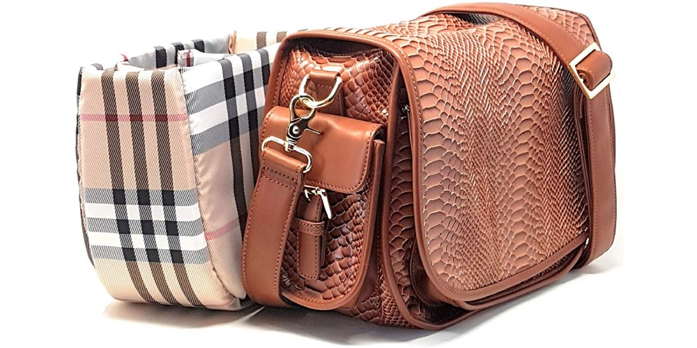 Ladies Croc-embossed DSLR Camera Bag by Rofozzi Image