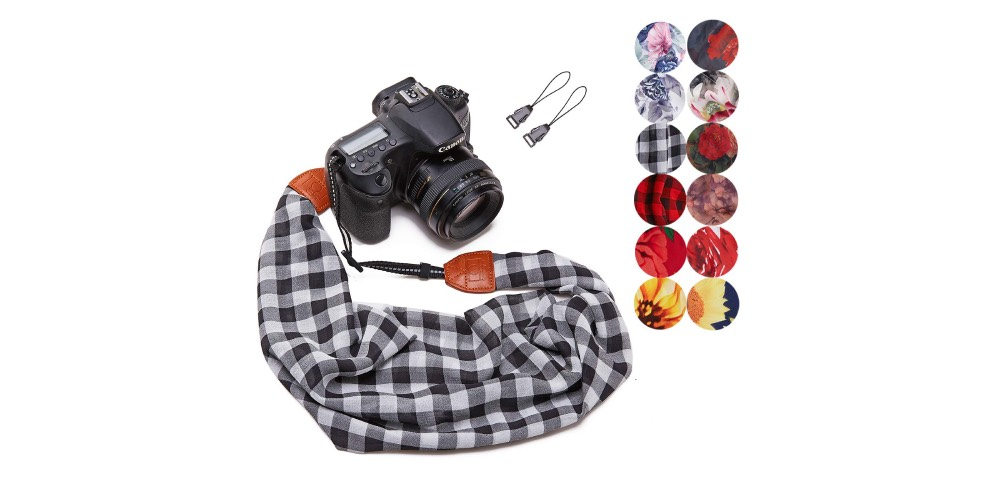Plaid Scarf Camera Strap Image