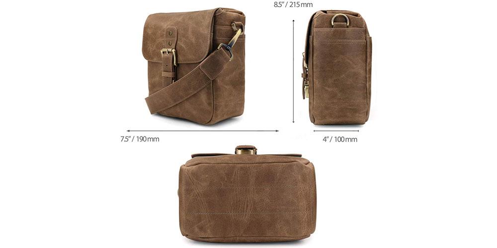 MegaGear Torres Mini Leather Camera Messenger Bag Image 3