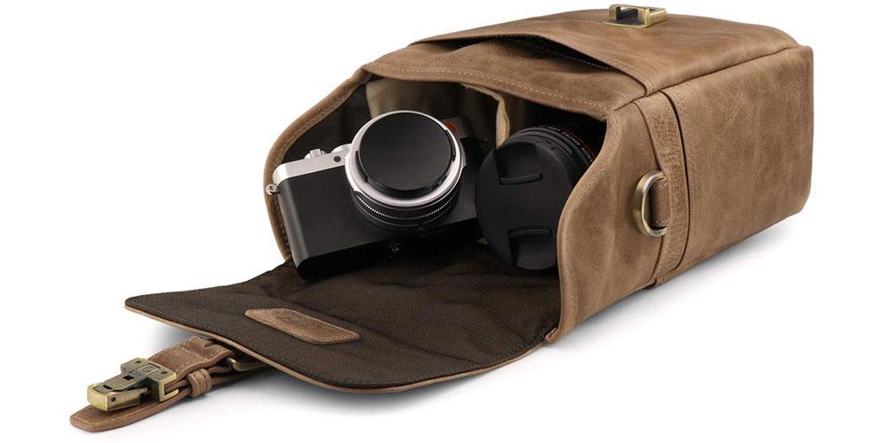 MegaGear Torres Mini Leather Camera Messenger Bag Image 5