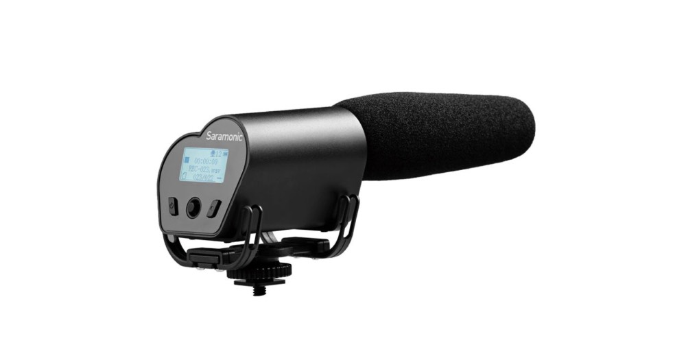 Saramonic VMIC Recorder Super-Cardioid Video Microphone with Built-in Audio Recorder Image