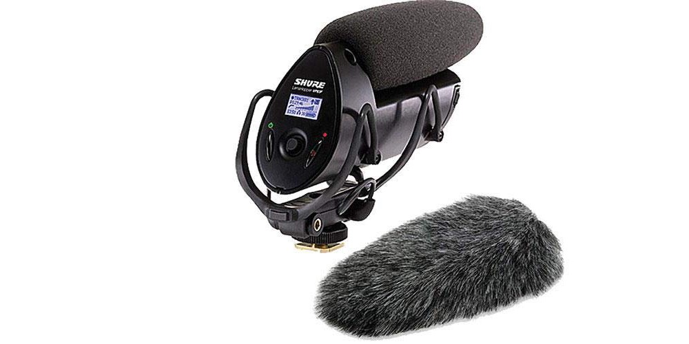 Shure VP83F LensHopper Camera-Mounted Condenser Microphone with Integrated Flash Recording Imag