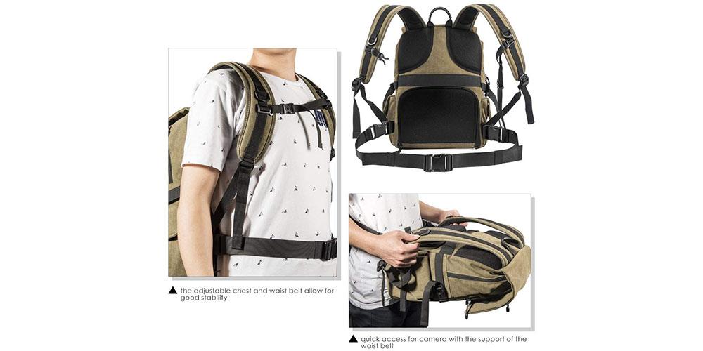 Zecti Camera Backpack Image 3