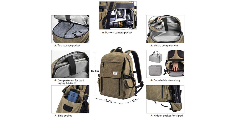 Zecti Camera Backpack Image 5