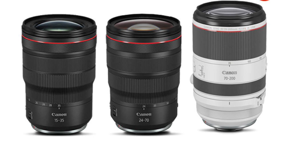 Canon Trinity of RF Lenses Image