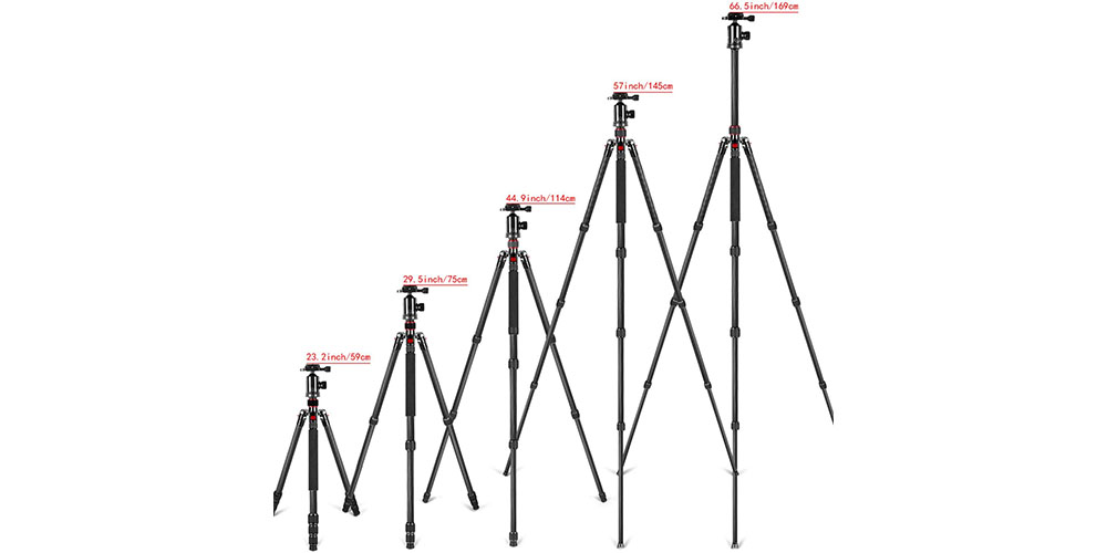 Neewer Carbon Fiber 66-Inch Tripod Image 5