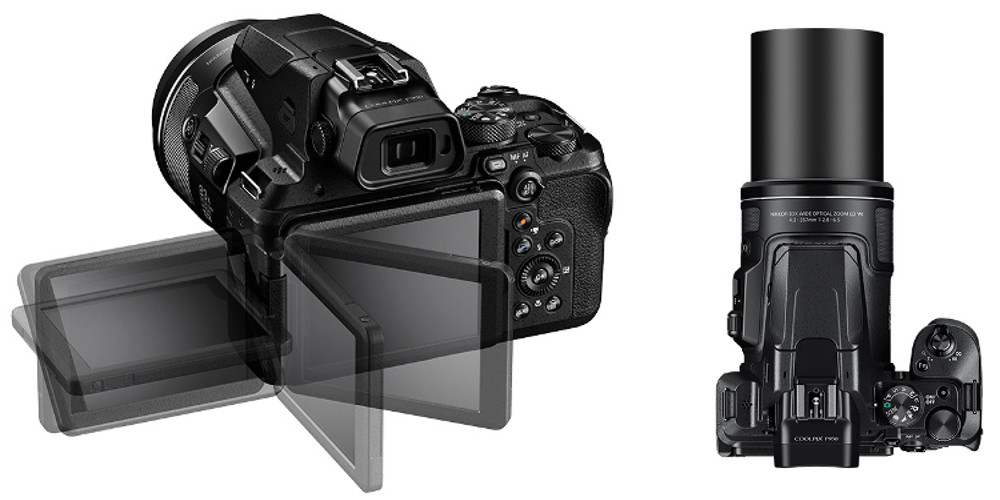 The new Nikon COOLPIX 950 with a 3.2-inch vari-angle fully articulated LCD and control dials